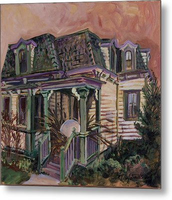 Metal Print featuring the painting Mansard House With Nest Egg by Tilly Strauss