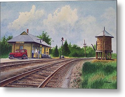 Mansfield Railroad Station Metal Print