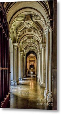 Mansion Hallway Metal Print by Adrian Evans