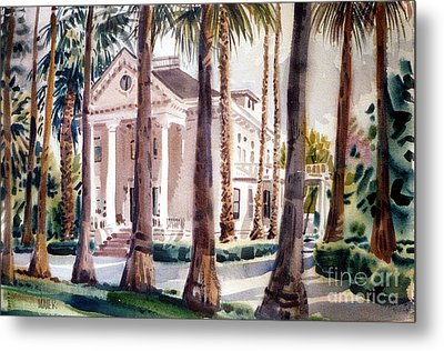 Mansion In Palo Alto Metal Print by Donald Maier