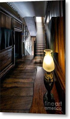 Mansion Lamp Metal Print by Adrian Evans