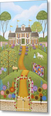 Mansion Over The Hilltop Metal Print by Mary Charles
