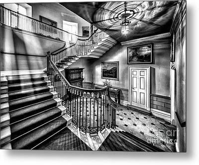 Mansion Stairway V2 Metal Print by Adrian Evans