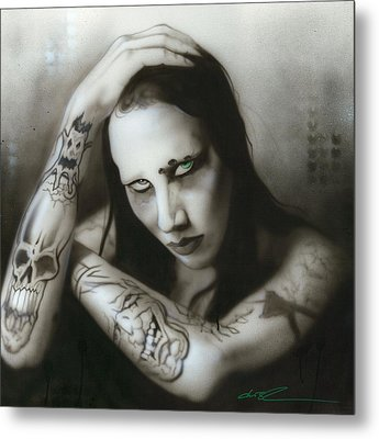 Marilyn Manson - ' Manson IIi ' Metal Print by Christian Chapman Art