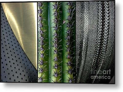 Manufactured Ouch Metal Print by Marlene Burns