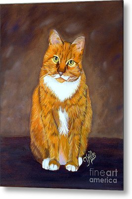 Manx Cat Metal Print by Terri Mills