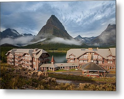Many Glacier Hotel Metal Print by Jack Bell