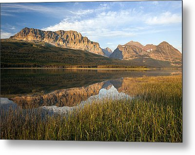 Metal Print featuring the photograph Many Glacier Reflections by Jack Bell