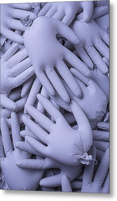 Many Gray Hands Metal Print