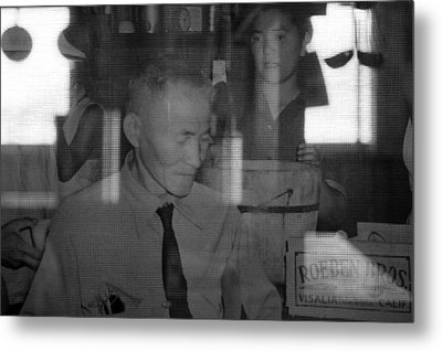 Manzanar-kitchen Worker  Metal Print by Harold E McCray
