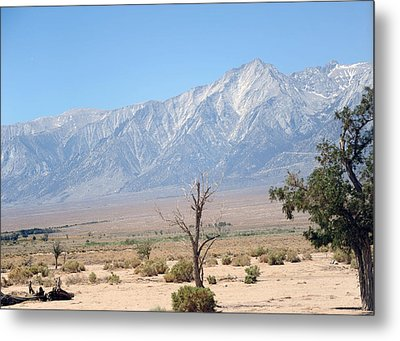 Manzanar-sierra Nevada Mountains I Metal Print by Harold E McCray