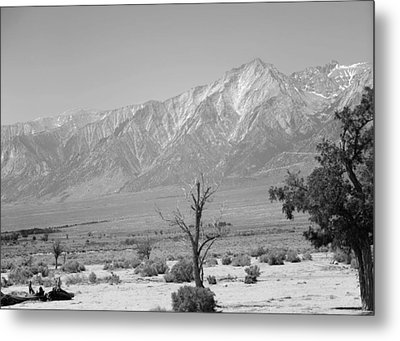 Manzanar-sierra Nevada Mountains II Metal Print by Harold E McCray
