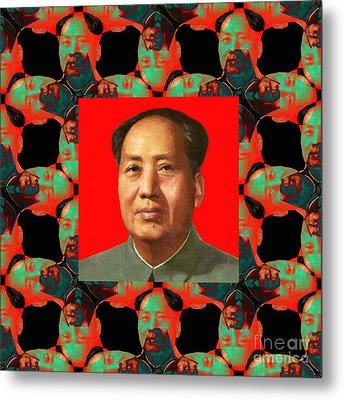 Mao Abstract Window 20130202p0 Metal Print by Wingsdomain Art and Photography