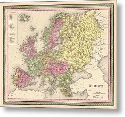 Map Of Europe Metal Print by Gary Grayson