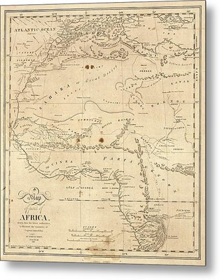 Map Of North-western Africa Metal Print by Library Of Congress, Geography And Map Division