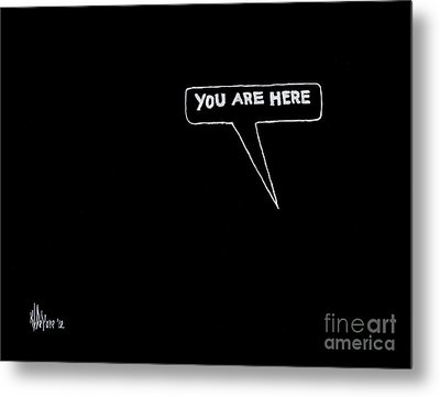 Map Of The Universe Metal Print