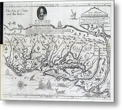 Map Of Virginia Metal Print by British Library