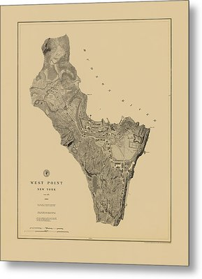 Map Of West Point 1883 Metal Print by Andrew Fare