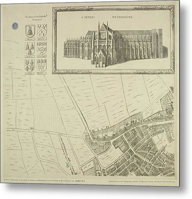 Map Of Westminster In The City Of London Metal Print