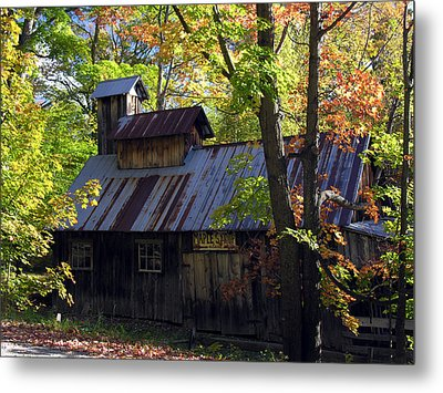 Maple Syrup Barn Metal Print