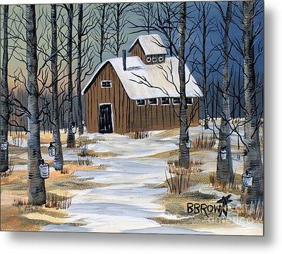 Maple Syrup Shack Metal Print