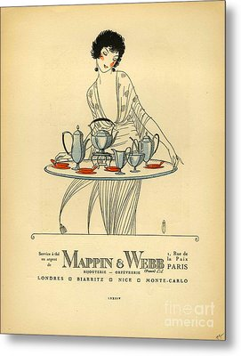 Mappin And Webb  1920s France Cc Tea Metal Print by The Advertising Archives