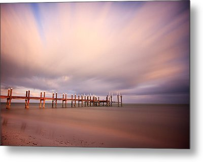 Marathon Key Long Exposure Metal Print by Adam Romanowicz