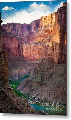 Marble Cliffs Metal Print by Inge Johnsson