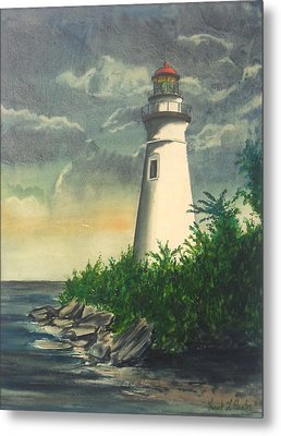 Marblehead Light On Lake Erie Metal Print