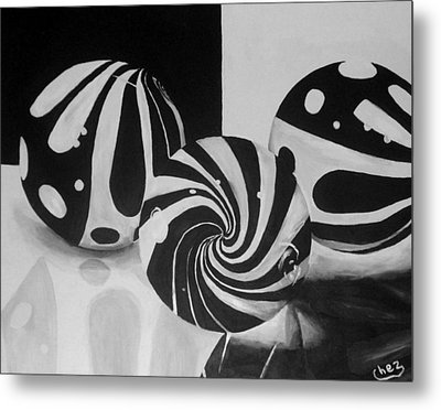 Marbles Metal Print by Cherise Foster