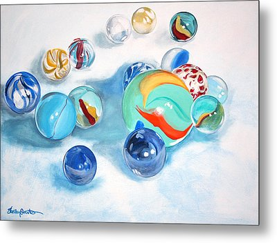 Marbles Metal Print by Shelley Overton