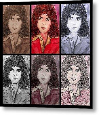 Marc Bolan Glam Rocker Collage Metal Print