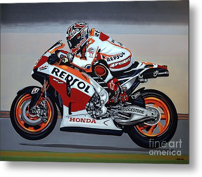 Marc Marquez Metal Print by Paul Meijering