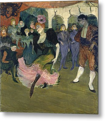 Marcelle Lender Dancing The Bolero In Chilperic Metal Print by Henri de Toulouse-Lautrec