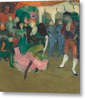 Marcelle Lender Dancing The Bolero In Chilperic Metal Print by Toulouse-Lautrec