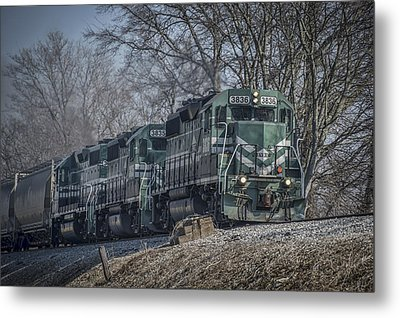 March 11. 2015 - Evansville Western Railway At Mount Vernon Indiana Metal Print by Jim Pearson