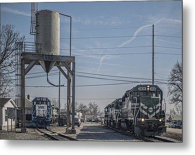 March 11. 2015 - Evansville Western Railway Engine 3836 Metal Print by Jim Pearson