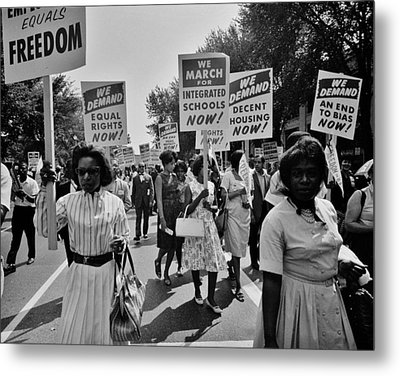 March For Equality Metal Print by Benjamin Yeager