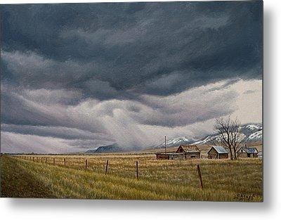 March Sky-montana Metal Print by Paul Krapf