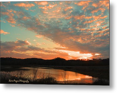 March Sunset With Signature Metal Print