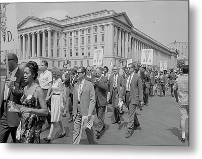 Marchers With Medical Committee Metal Print by Stocktrek Images