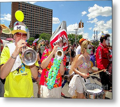 Metal Print featuring the photograph Marching Band by Ed Weidman
