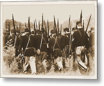 Metal Print featuring the photograph Marching Into Battle by Judi Quelland