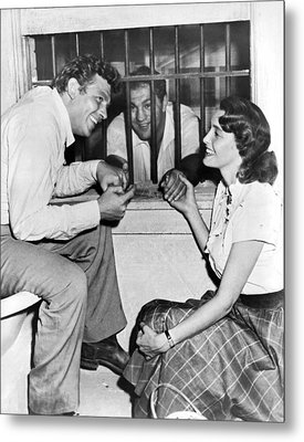 Marciano In A Movie Jail Set Metal Print by Underwood Archives