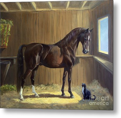 Marco And Sneaker Metal Print by Jeanne Newton Schoborg