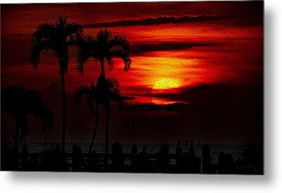 Marco Island Sunset 59 Metal Print by Mark Myhaver