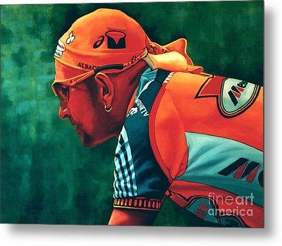 Marco Pantani 2 Metal Print by Paul Meijering
