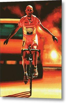 Marco Pantani Metal Print by Paul Meijering