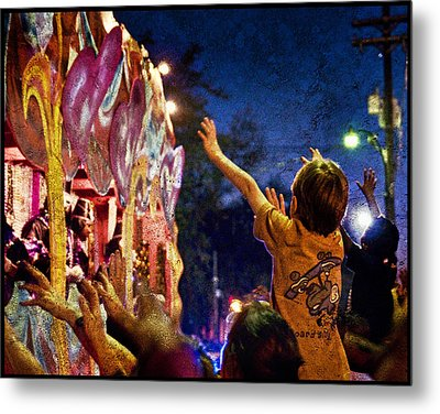 Mardi Gras At Night Metal Print