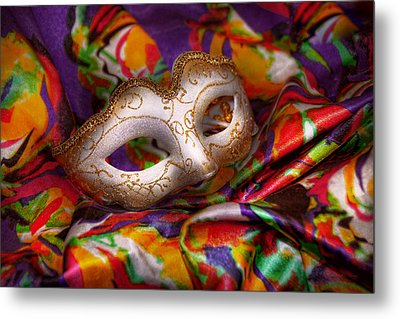 Mardi Gras - Celebrating Mardi Gras  Metal Print by Mike Savad